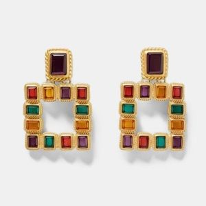 Zara statement earrings
